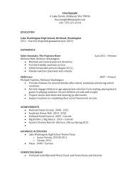Simple High School Resume Examples High School Resume Samples High School Resume Student