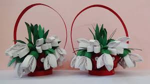 Paper Quilling Flower Baskets Quilling Artwork How To Make 3d Quilling Flower Basket Youtube