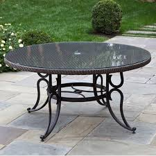 outdoor dining tables patioliving regarding 60 inch round table