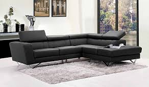 ... Liza Leather L-Shaped Sectional Sofa ...