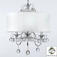 black drum chandelier with crystals modern white drum shade crystal ceiling chandelier pendant lighting fixture w h