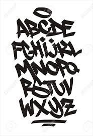 Graffiti Font Free Vector Graffiti Font Handwritten Alphabet