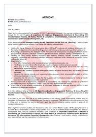 Hr Sample Cover Letter Format Download Cover Letter Format Templates