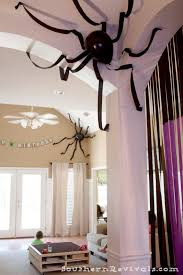 Indoor halloween decorating ideas Fireplace 12 Scary Spiders Make Spooky Rooms Homebnc 50 Best Indoor Halloween Decoration Ideas For 2019