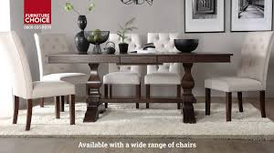 furniture choice. cavendish dark wood extending dining table by furniture choice - youtube o