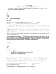 50 Effective Letters Of Reprimand Templates Ms Word