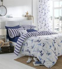 Nautical Bedroom Curtains Nautical Boats Duvet Cover Bedding Sets Or Eyelet Curtains Or