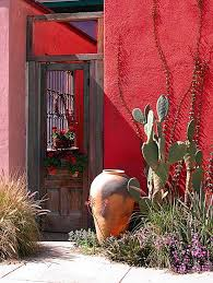 Small Picture Doorway in Tucson AZ love the red wall and cactus