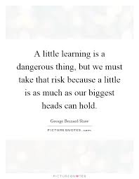 a little learning is a dangerous thing essay a little learning is a dangerous thing raymond