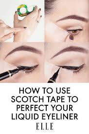 scotch tape trick for liquid liners 17 great eyeliner hacks for makeup junk