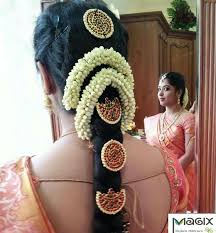 south indian bridal hair with temple set by magixspa