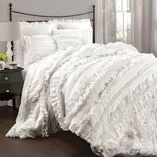 lush decor belle 4 piece white queen comforter set