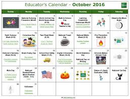 Us Educators Calendar 2018 2019