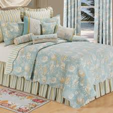 remarkable seashell bedding in natural s quilt