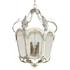 chantilly french country parisian blue white 6 light lantern pendant kathy kuo home