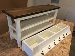 Coat And Shoe Rack Hallway Mud Room Foyer Bench 100 With Two Shoe Shelves and 61