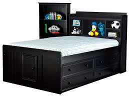 43 Black Kids Beds Cottage Youth Kids Twin Captain Bed Bookcase