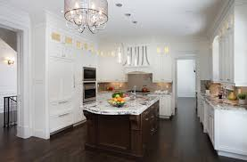 white kitchens with dark hardwood floors