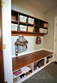 diy entryway bench with storage coat racks perfect mudroom bench and coat rack best of white