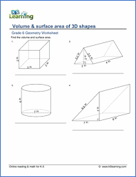 grade geometry worksheets printable k learning grade 6 geometry worksheet