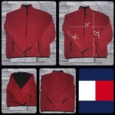 Tommy Hilfiger Mens Red Fleece Jacket 3xl