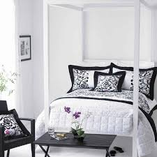 bedroom ideas for black furniture. Stylish Bedroom In Black And White Ideas For Furniture