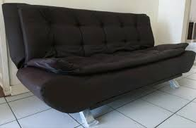 new brown faux leather sleeper couch