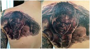 халк на спине татуировки татушка