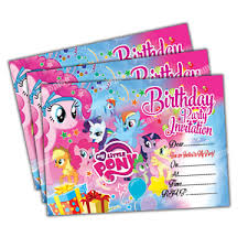 kids birthday party invitations details about 20 x my little pony kids birthday party invitations invite cards quality girls