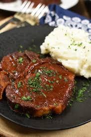 slow cooker bbq pork chops fork
