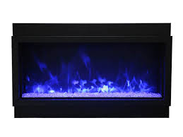 amantii bi 50 deep xt 50 wide deep indoor or outdoor built in only electric fireplace with black steel surround