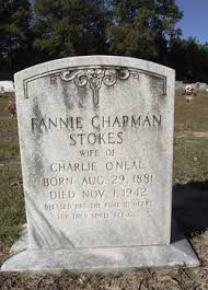 Fannie Chapman O'Neal (1881-1942) - Find A Grave Memorial