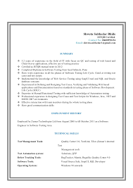 manual tester resume. sample resume for experienced ...
