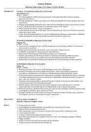 Project Manager Resume Example Ecommerce Project Manager Resume Samples Velvet Jobs 21