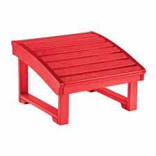 cr plastic s generations upright adirondack chair pull out footstool in red f03 01