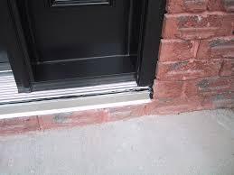 front door thresholdbeautiful exterior door threshold on stainless steel door