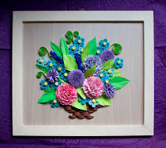 Paper Quilling Flower Baskets