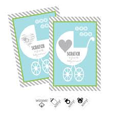 Blue Baby Carriage Scratch Off Game