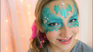 easy mermaid masquerade mask face painting and makeup
