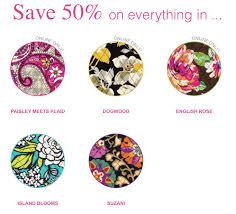 Vera Bradley Pattern Names Gorgeous Vera Bradley 48% Off EVERYTHING In Select Patterns Thrifty Jinxy