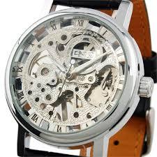 silver skeleton hand wind up mechanical wrist watch for men wm119 the details about wm119 ess men s watch