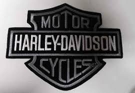 davidson grey black white logo patch hd17