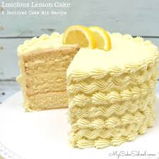 Lemon Cake A Doctored Cake Mix Recipe My Cake School