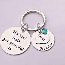 personalised dad gift dad keyring grandad keyring the best dads gets promoted grandad gift gift from grandkids grandpa gift
