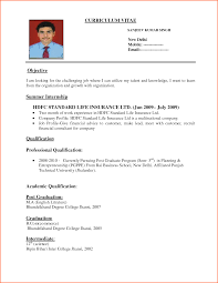 Cv Resume Format In Pdf Fair Most Recent Resume Format 2016 For Cv