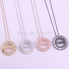 fashion new 5pcs mother gift mom letter pendant necklace cubic zirconia hight quality jewelry for women