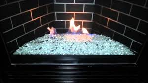 gndc33 heatilator gas fireplace conversion to fire glass rock or stones removed logs