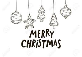 Black And White Greeting Card Merry Christmas Black And White Greeting Card With Christmas
