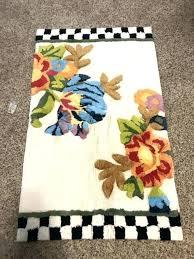mackenzie childs rug white flower market courtly check bath mat new kitchen rugs inspired mackenzie childs rug