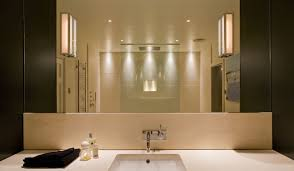 lighting large bathroom mirror with bathroom lights and